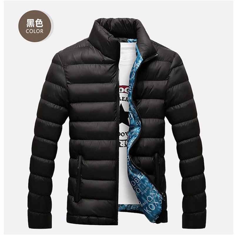 Winter Jacket Men 2019 Fashion Stand Collar Male Parka Jacket Mens Solid Thick Jackets And Coats Man Winter Parkas M-4XL
