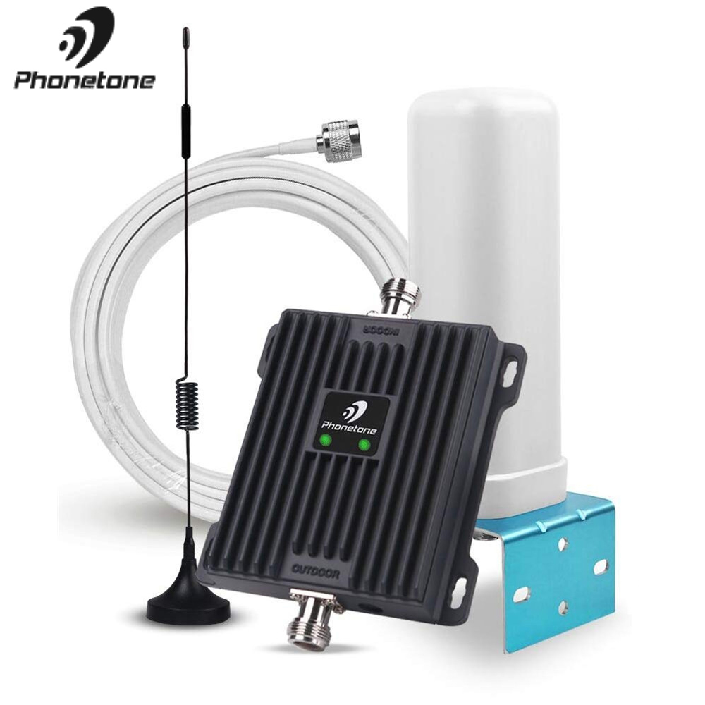 Cellular Signal Booster 850/1800MHz Band 5/3 2G GSM Booster 3G 4G LTE GSM Repeater Voice Data 65dB Home Use Amplifier Antena Kit