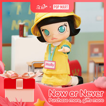 POP MART Kindergarten Molly BJD 14cm Birthday Gift Kid Toy New Arriving free shipping