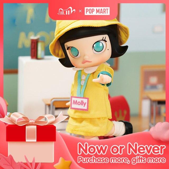 Pop Mart Kleuterschool Molly Bjd 14Cm Verjaardagscadeau Kid Speelgoed Nieuwe Aangekomen Gratis Verzending