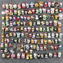 100 pçs japão anime hellokitty kt gato chaveiro anjo micro paisagem ornamentos jóias