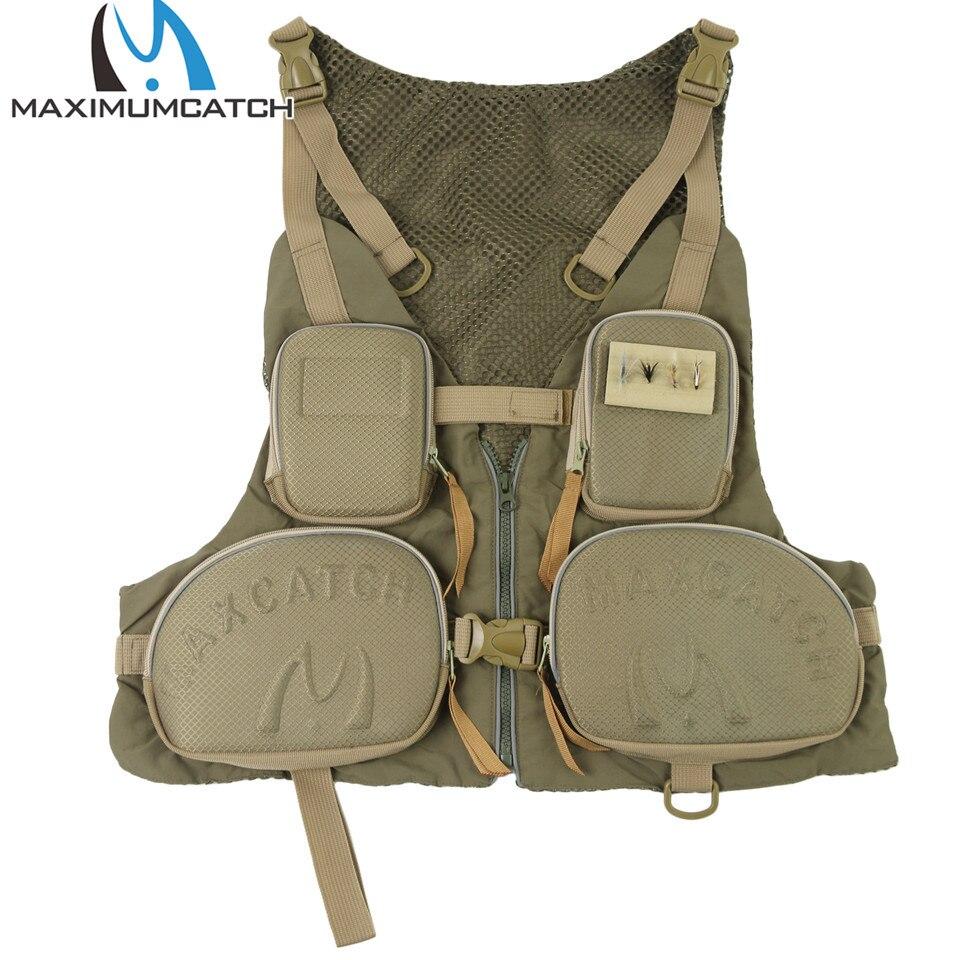 Maximumcatch High Quality Fly Fishing Vest Adjustable Size Fly Fishing Jacket