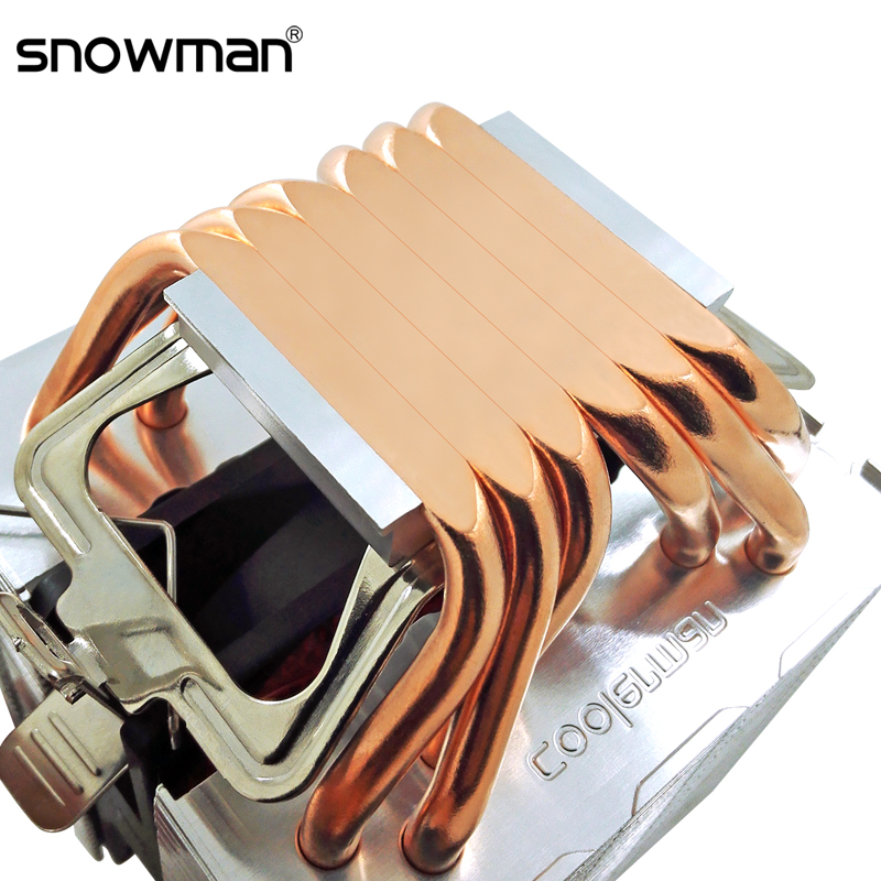 SNOWMAN 6 Heat Pipes CPU Cooler 4 Pin PWM RGB PC quiet Intel LGA 2011 775 1200 1150 1151 1155 AMD AM3 AM4 90mm CPU Cooling Fan 1