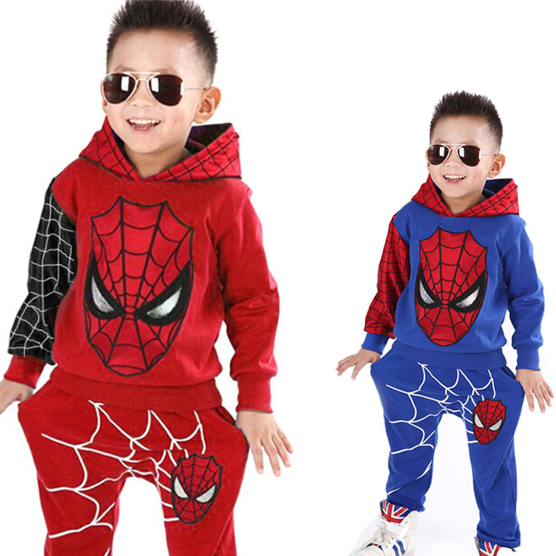 Children Clothes 2020 Autumn Spring Add Woolupset Toddler Boys Clothes Sets Spiderman Costume Kids Clothes For Boys Sport Suit