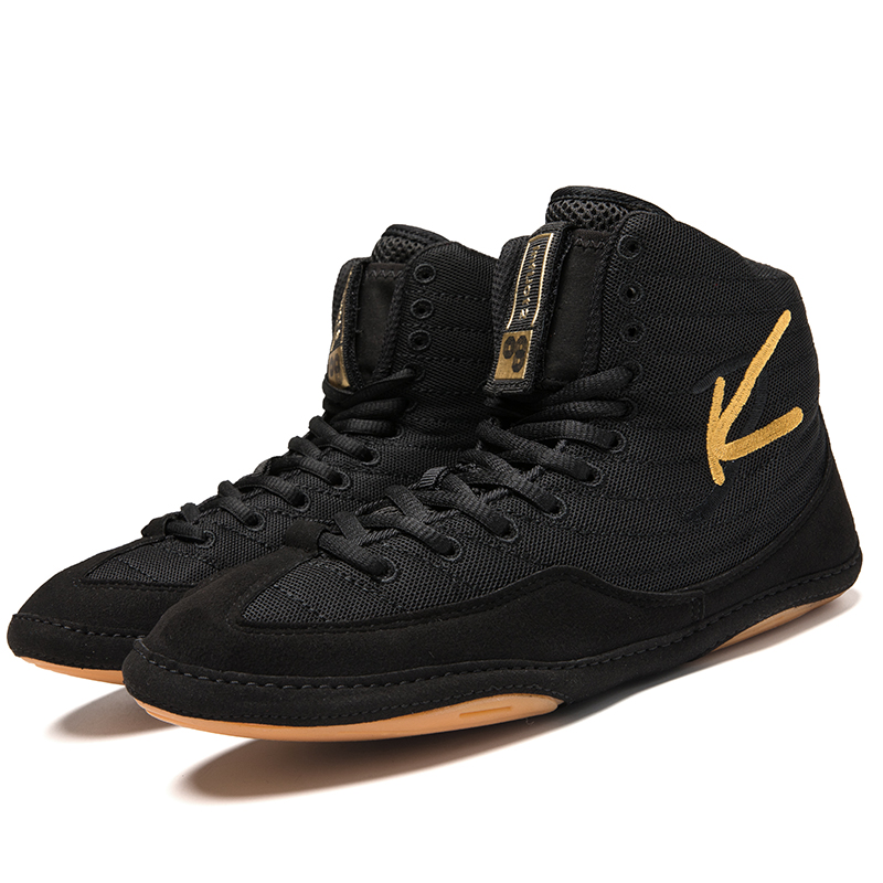Mens Sport Wrestling Shoes Lightweight Male Training Shoes Lace Up Man Professional Boxing Shoes Fighting