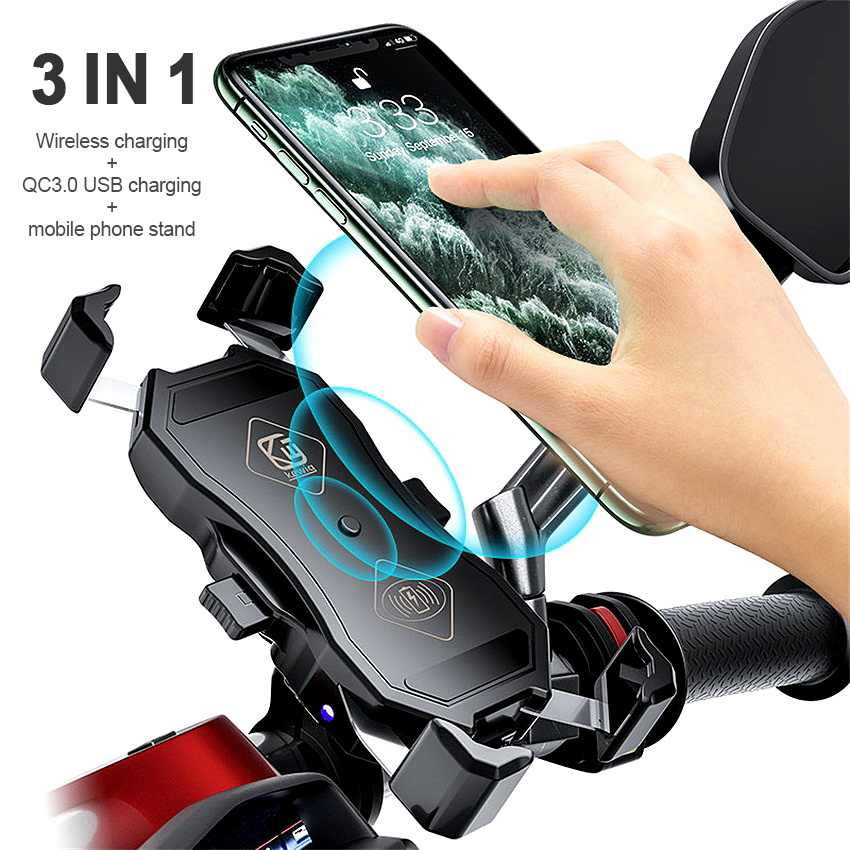 Blue Bike Accessories 360/° Rotation Bike Phone Holder Universal Cradle Clamp for iOS Android Smart Phone YQXCC Bike Phone Mount Bicycle Motorcycle Holder