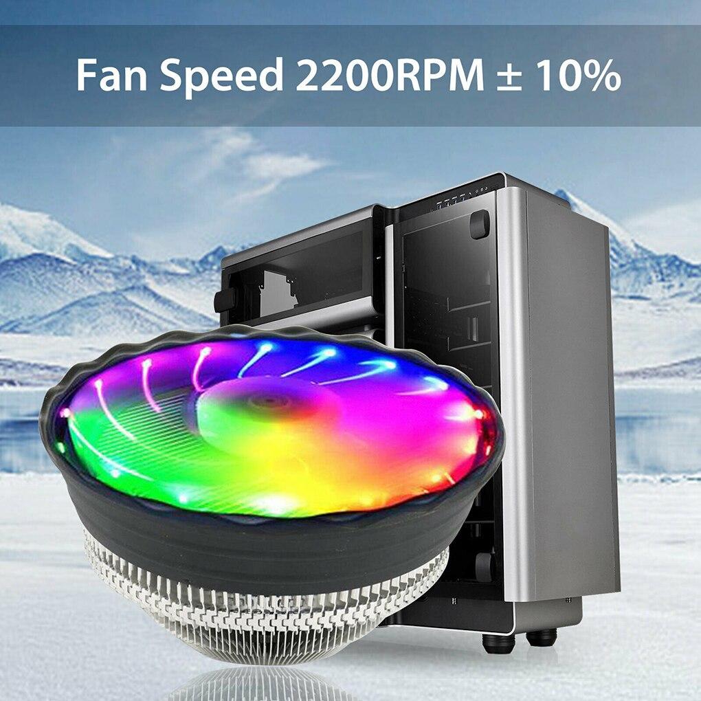 2000 об./мин тихий кулер для процессора ПК с высоким потоком воздуха, RGB охлаждающий вентилятор, Светодиодный радиатор|Кулеры/вентиляторы/системы охлаждения|   | АлиЭкспресс