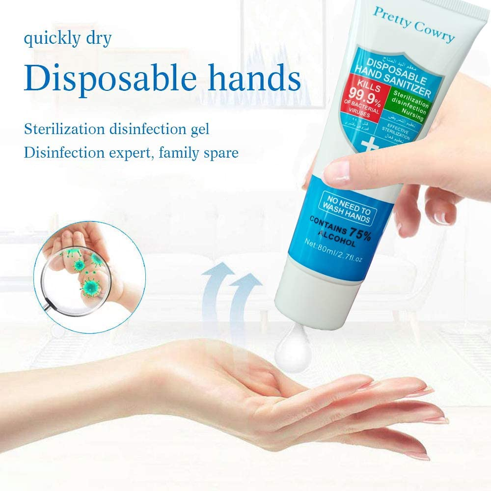 Image 4 - 80ml Travel Portable hand sanitizer antibacterial moisturizing and disinfecting disposable anhydrous