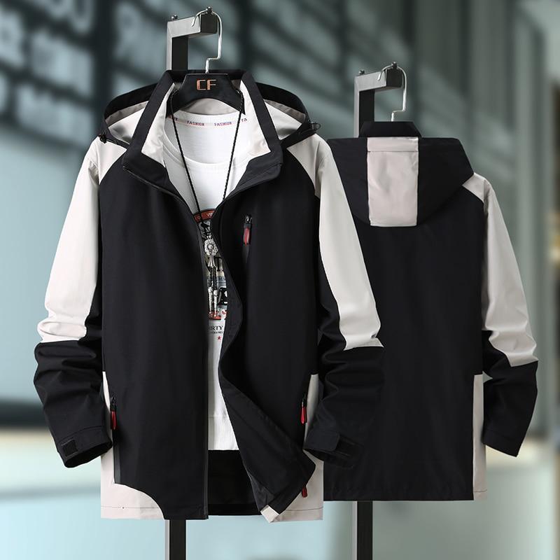 Plus size 10xl 9xl 8xl 7xl 6xl 5xl 4xl casual inglaterra estilo novo 2020 primavera outono jaqueta masculina roupas de marca mais com capuz