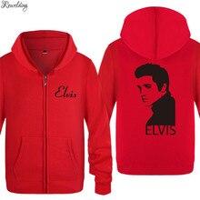 Zipper Hoodies Men Elvis Presley Printed Mens Hoodie Music H