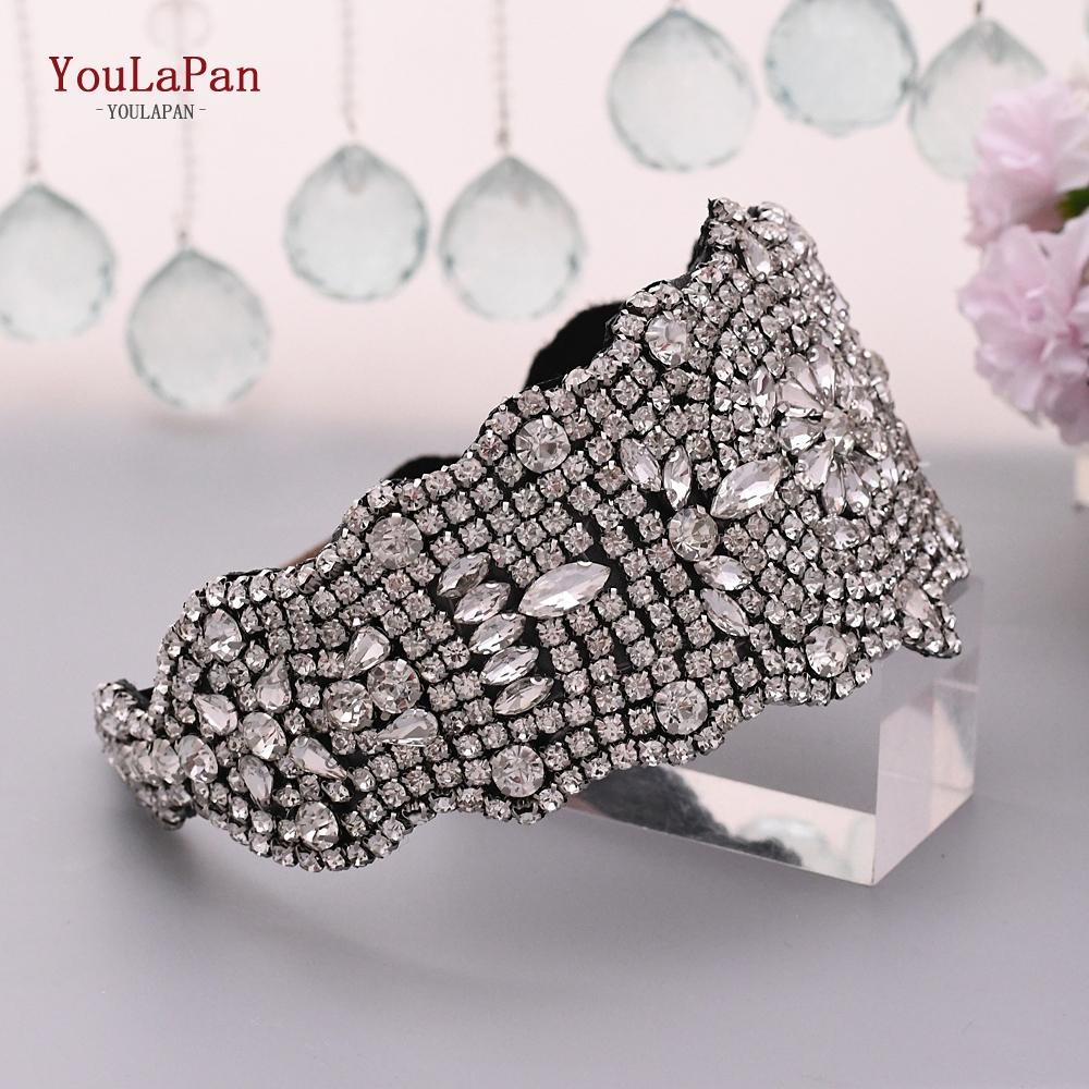 YouLaPan Bling Headband  Women Hair Accessories For Wedding Bridal Tiaras For Wedding Headpieces Bridal Hair Jewelry S233-FG