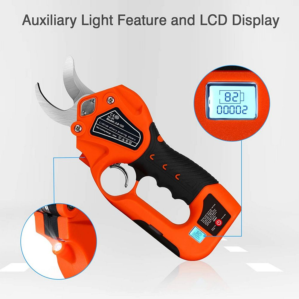 Garden Battery Rechargeable Cutter Electric Branch Pruning Diameter Pruning Lithium Shears Cutting Cordless 2 Inch Tool 6 1