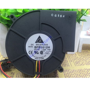 Delta BFB1012H 9733 DC12V 1.2A 9.6W Suction centrifugal turbine air blower 3600rpm 25.43CFM 3 pin Cooling exhaust fan for grill image