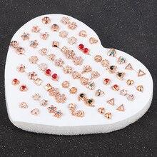 12-36 пар/уп. модная женская круглая звезда со стразами цветочные серьги-гвоздики ювелирные изделия