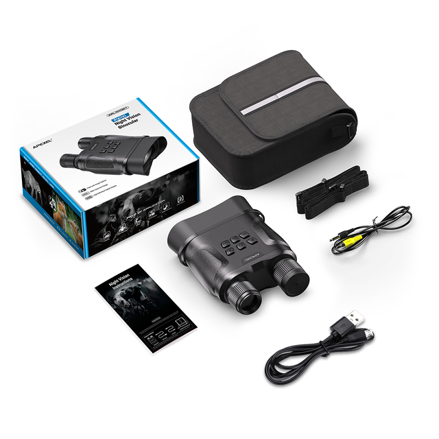 APEXEL Digital Night Vision Binoculars With Video Recording HD Infrared Day And Night Vision Hunting Binoculars Telescope 6