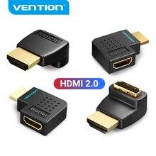 Vention HDMI adaptateur 270 90 degrés Angle droit HDMI mâle vers HDMI femelle convertisseur pour PS4 HDTV HDMI câble 4K HDMI 2.0 Extender