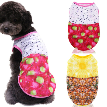 Summer Dog Clothing Thin Vest T-shirt Small Medium Dog Clothes Fashion Puppy Cat Dog Accessory Pineapple Vest Clothing Hot sale image