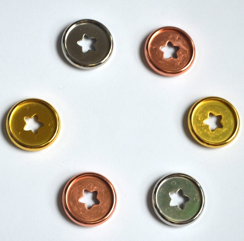 12pcs 27mm Notebook Mushroom Hole Button Plastic Accessories Disc Buckle Hand Book Book Binding Discs Loose Button A5 Binder