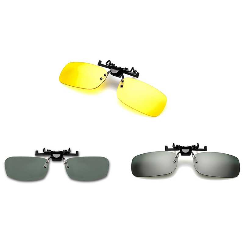 Sunglasses Clip Drive Goggles Sun Yellow Night Vision Glasses Night Resin Lens Driving Eyeglasses