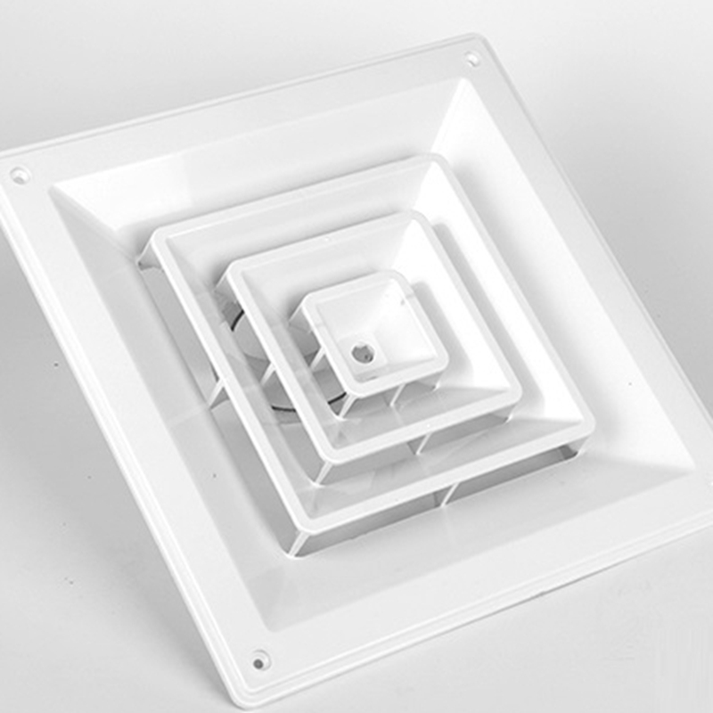 Aluminum Alloy Square ABS Round Register Diffuser Air Vent Fresh External Extractor Outlet Vents Ducted Fan Ceiling Air Outlet