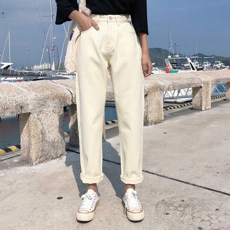 Aprikot Jeans Harem Celana High Waist Jeans Wanita Plus Ukuran Pantalones Jeans De Mujer Cintura Alta Vintage Blue Jean Femme Kasual Celana Jeans Aliexpress