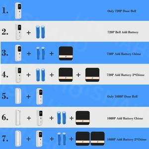 Image 5 - Timbre de puerta inalámbrico para exteriores dispositivo de comunicación con WIFI, resolución de 1080P, Monitor de seguridad inteligente para el hogar, visión nocturna IR, resolución de 720P