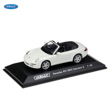 WELLY  1:43 porsche 911 car alloy model simulation decoration collection gift toy Die casting boy