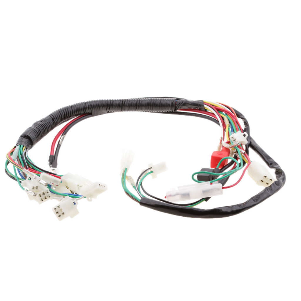 wiring harness kit for atv electrics wiring harness kit wire loom for atv quad 4 four  electrics wiring harness kit wire loom