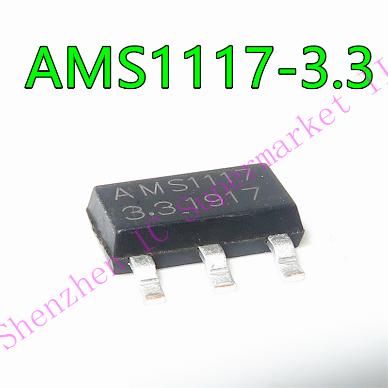 1pcs/lot AMS1117-3.3V AMS1117-3.3 AMS1117-ADJ SOT-233 In Stock