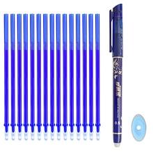 12/20Pc/Set Office Gel Pen Erasable Refill Rod Erasable Pen Washable Handle 0.5mm Blue Black Green Ink School Writing Stationery