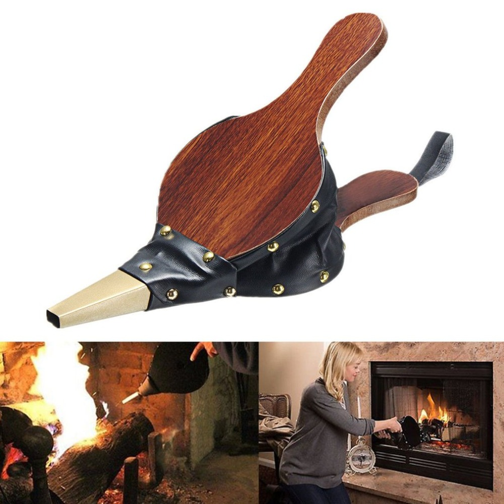 Mini Vintage Wooden Manual Handmade Air Blower Fan Blower For Barbecue Fire Bellows Outdoor Cooking Picnic Camping Hiking