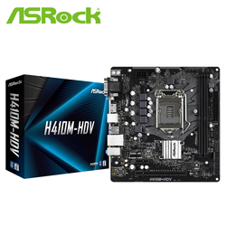 ASROCK H410M-HDV Материнская плата Intel H410/LGA 1200) M-ATX материнская плата
