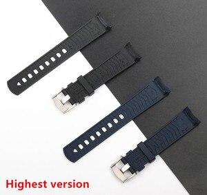 Image 3 - Qualidade da marca 20mm borracha macia silicone pulseira de relógio fivela moagem arenaceous cinto especial para omega cinta para seamaster 300 logotipos