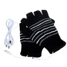 1Pair Knitting Winter Gloves Battery Powered Hunting Breathable Heated Outdoor Motorbike Motorcycle 5V Durable