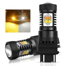 AUXITO 2x T20 7443 W21 5W Led 3157 T25 Led Canbus No Hyper Flash Switchback White Amber Led Daytime Running Turn Signal Lights