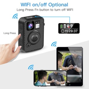 Image 2 - BOBLOV Wifi caméra de Police 64GB F1 corps Kamera 1440P caméras portées pour lapplication de la loi 10H enregistrement GPS Vision nocturne DVR enregistreur