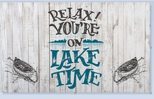 Entrance Mat Non-slip Doormat relax!youre on the lake time Door Floor Rubber Non-woven Fabric Top