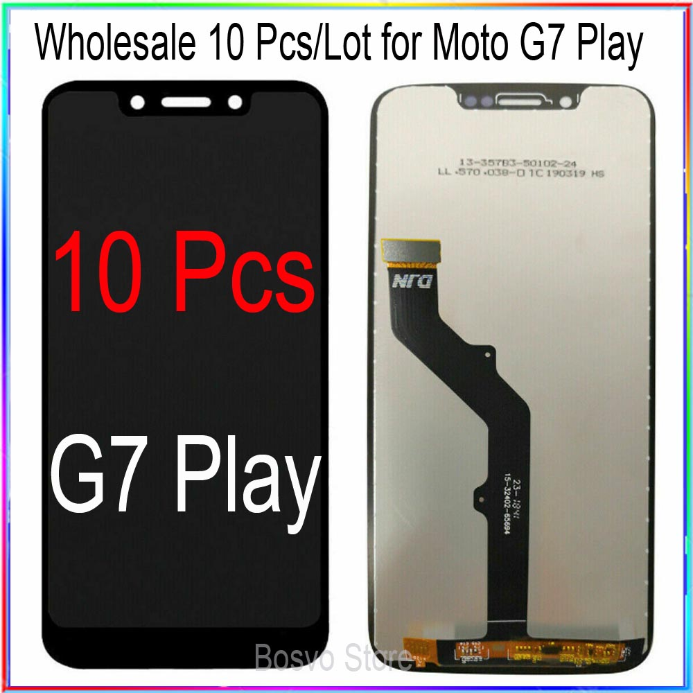 WholeSale 10 Pcs/lot for Moto G7 Play LCD Screen Display with Touch Digitizer Assembly XT1952