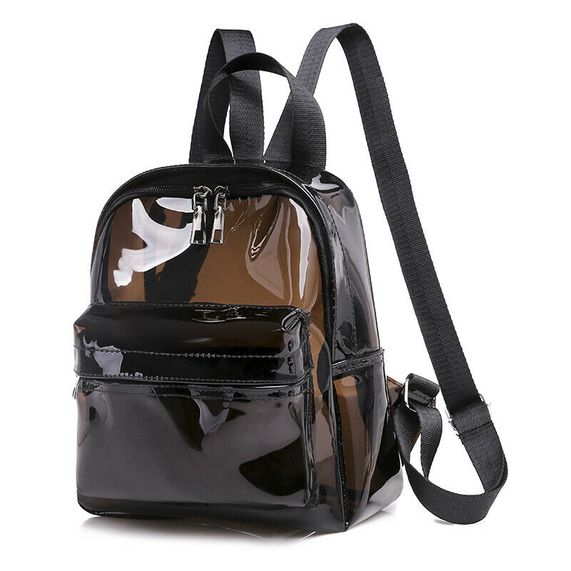 Fashion Clear Transparent PVC See Through Mini Backpack Cute School Book Bag AU