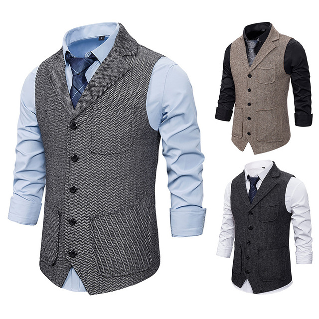 Mens Business Casual Suit-vests