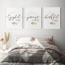 Bijbelvers Typografie Christian Wall Art Canvas Schilderij Geometrische Goud Roze Posters En Prints Foto Woonkamer Home Decor