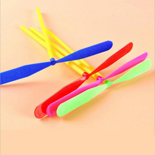 80 ностальгическая игрушка пластиковый Бамбук Детская Классическая Игрушка детская игрушка не сияющая летающая фея