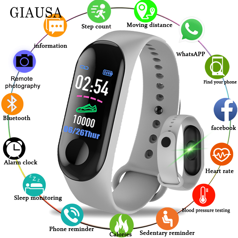 Bluetooth Electronic Smart Watch Women Men Unisex Heart Rate Monitor Fitness Tracker Smartwatch For Android Phone
