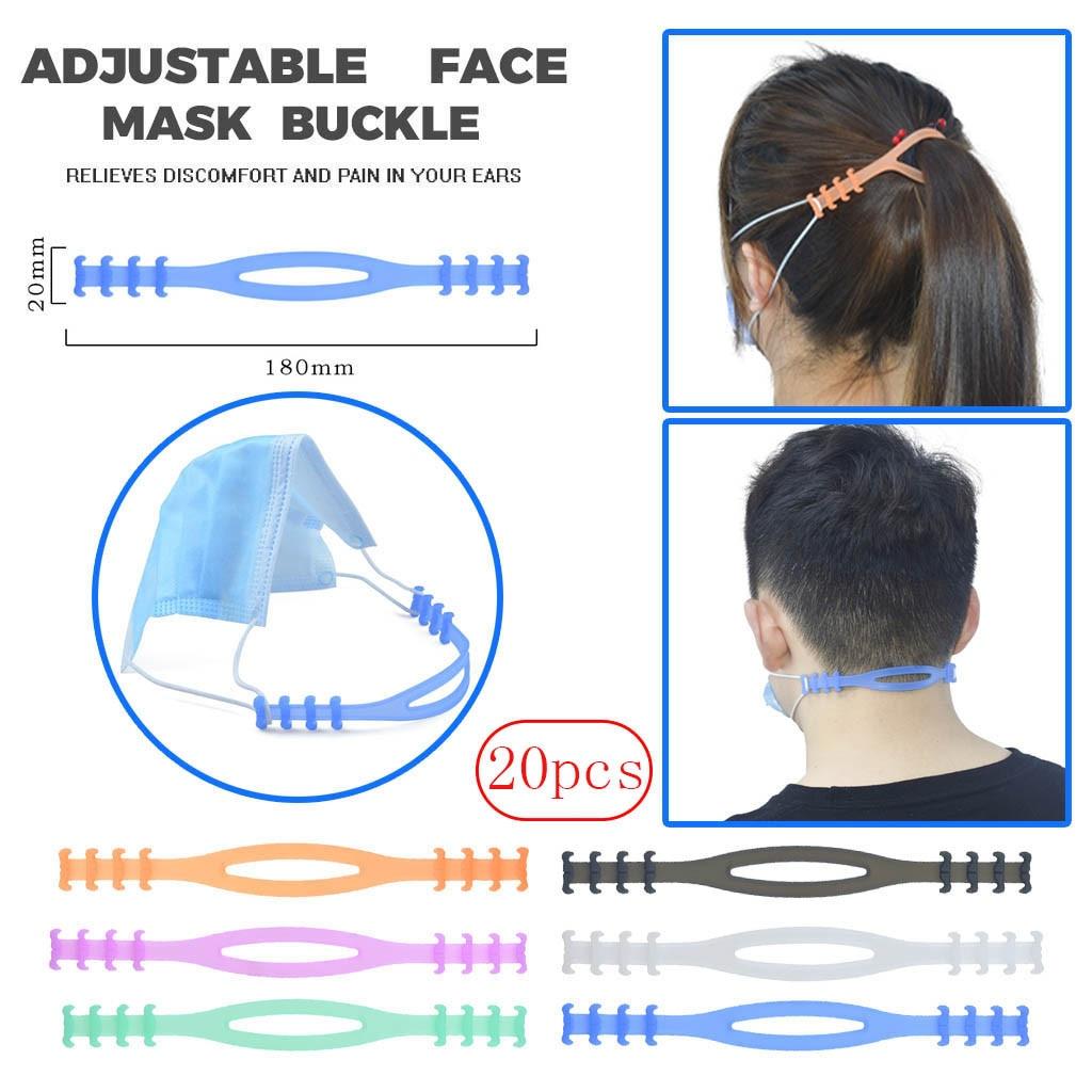 20pcs Non-slip Face Mask Ear Hook Adjustable Earache Prevention Fixer Kid Adult Outdoor Riding Mask Ear Hook Mascara Protectora
