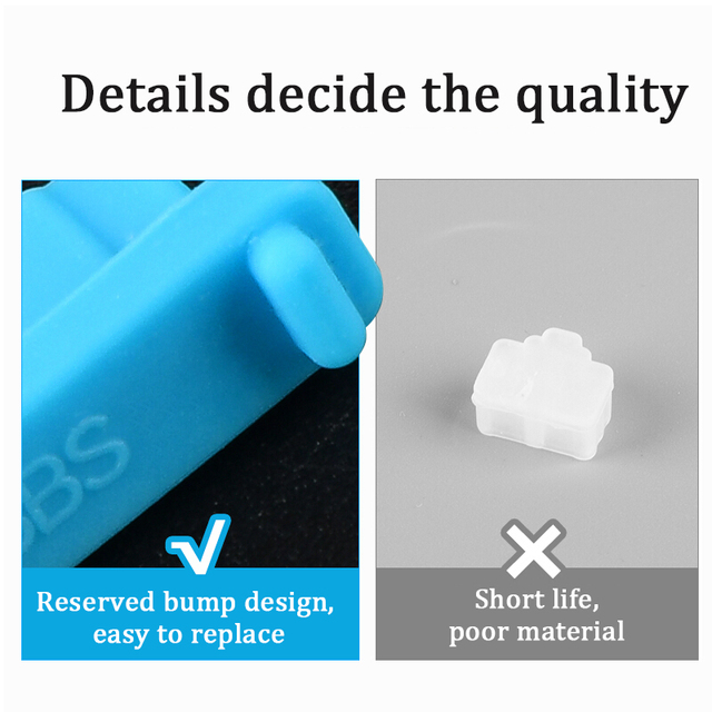Business Travel Portable device Colorful Silicone Anti Dust Plug