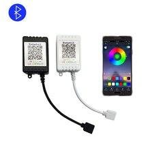 APP Del Telefono RGB RGBW Bluetooth Controller di trasporto libero HA CONDOTTO Il Regolatore DC 5 V 12 V 24 V Bluetooth Telecomando IR Dimmer Per HA CONDOTTO La Striscia Bianco Nero