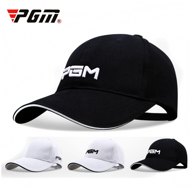 PGM Golf Caps Unisex Breathable Cotton for Men Sun Shade Adjustable Hat Cycling Hiking Traveling Running Cap Women Outdoor Sport