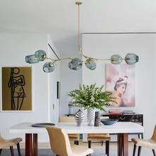LED modern Retro loft Nordic Chandelier Dining room kitchen chandelier lighting Livingroom bedroom Decorative glass ceiling lamp