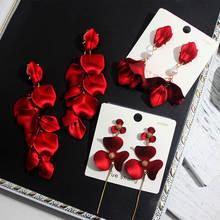 Женские акриловые серьги flatfoosie длинные красные подвески