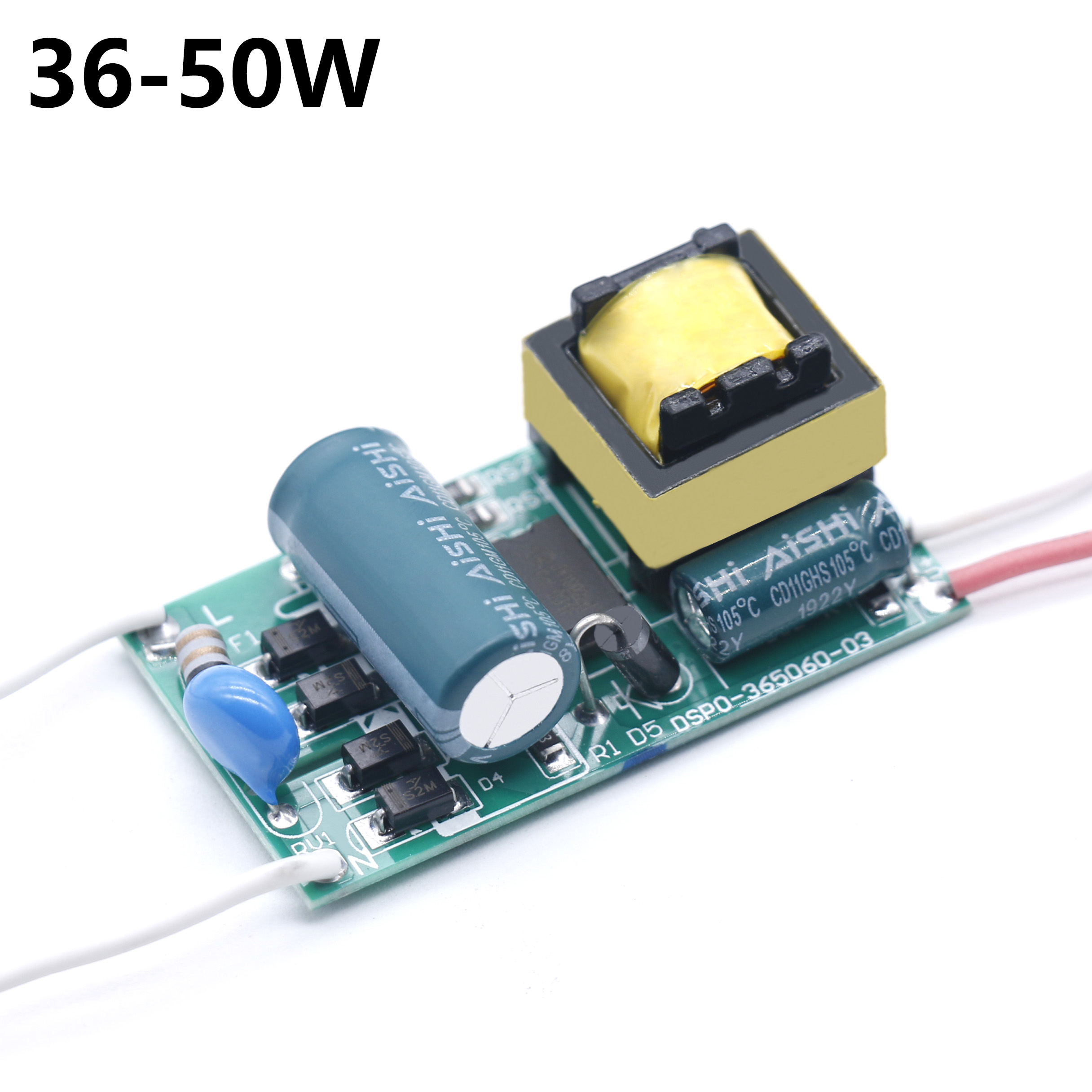 LED Driver 36-50W Power Supply Constant Current DC120-160V Automatic Voltage Control Lighting Transformers For LED Lights DIY